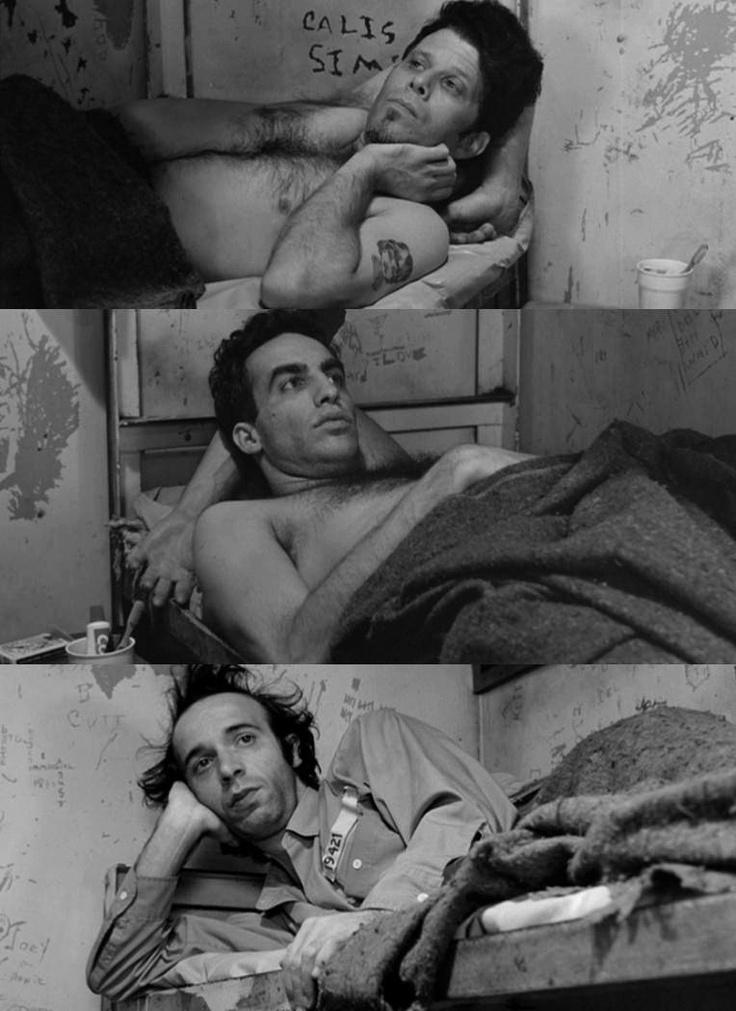 Tom Waits, John Lurie, Roberto Benigni in 'Down By Law' (Jim Jarmusch, 1986)