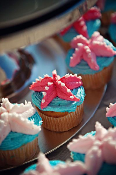 Starfish cupcakes (for Octonauts party)