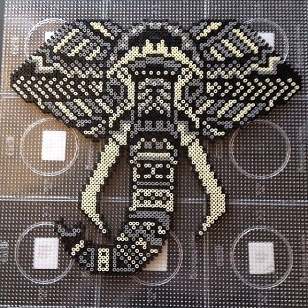 Elephant hama perler bead
