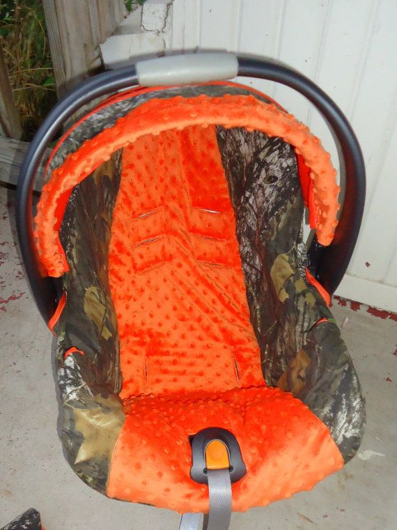 Orange Mossy Oak Baby Car Seat Cover by jennirolli5 on Etsy, $70.00