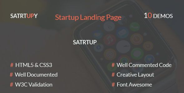 STARTUPY - Startup Landing Page (Landing Pages) - http://wpskull.com/startupy-startup-landing-page-landing-pages/wordpress-offers