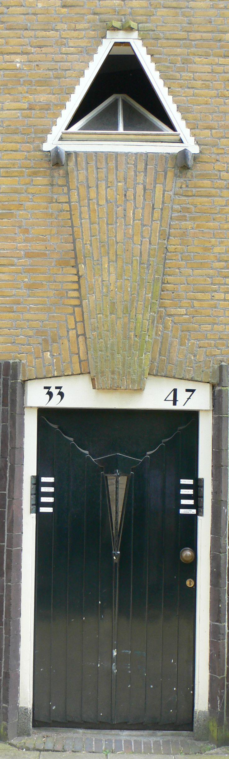 """Door & window in """"Amsterdamse School"""" style"""