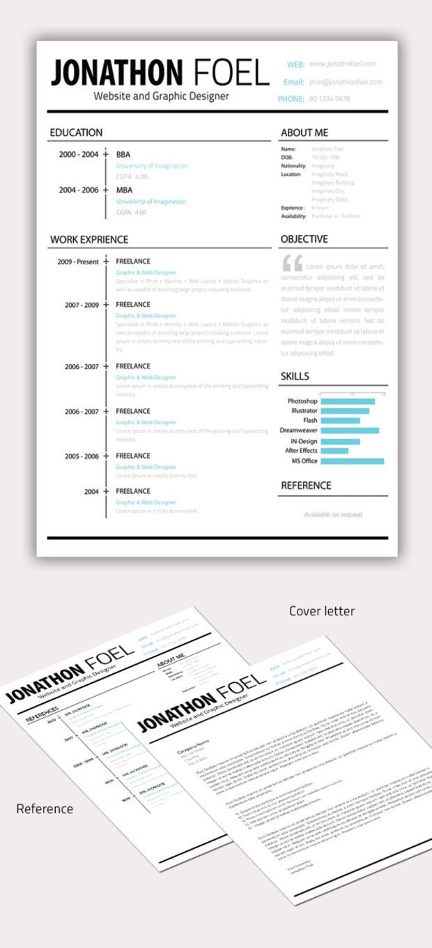 Best Resume Images On   Curriculum Cv Resume Template