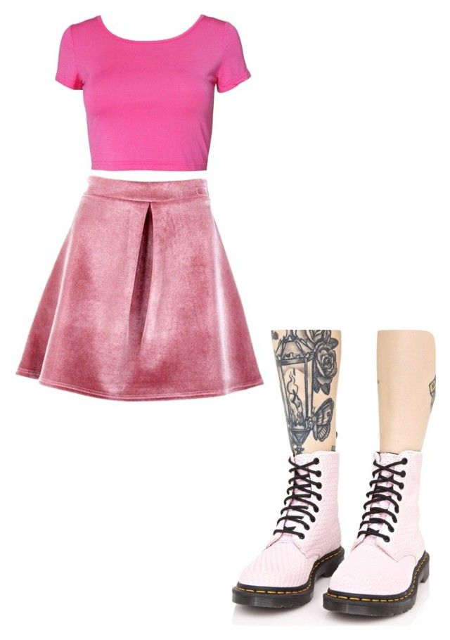 This Outfit Is A Monochromatic Color Scheme The Top Skirt And Boots Are