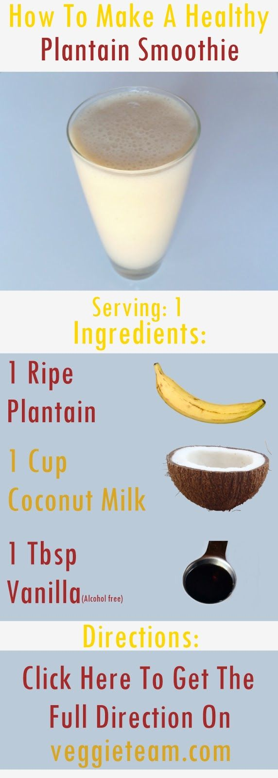You are about to learn how to make a healthy plantain smoothie that will enrich your body with, fiber, vitamins, minerals, anti-oxidants, and phytochemicals that will help to detox your body and boost your immune system...