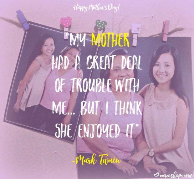 Happy Mother's Day! I wrote a mother's day poem that serves as a virtual card for my mom in the Philippines. With love from Norway. <3 Have you greeted your mom already? Go go go! | carenshope.com