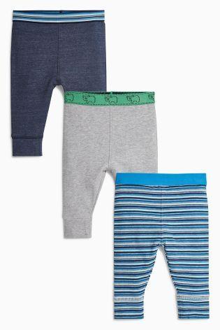 Kopen Set van drie groene/blauwe leggings (0 mnd-2 jr) nu online op Next: Nederland