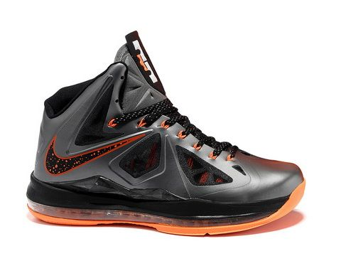 Nike LeBron 10 Silver Black Orange Style Code:541100-100 The Nike LeBron 10