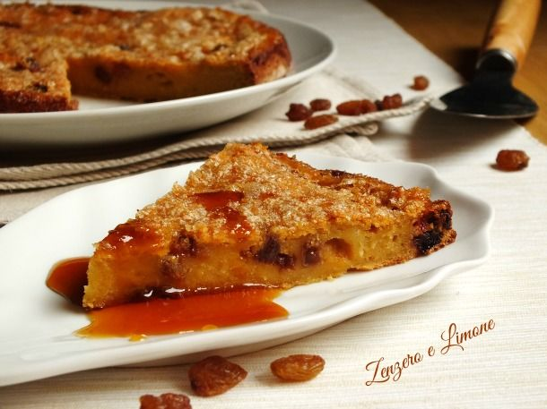 Torta+dolce+di+patate+e+uvetta