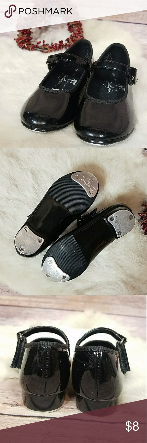 🌹Girl's ABT Spotlights Patent Tap Shoe sz 8 Velcro closure, gently worn. ABT Costumes Dance