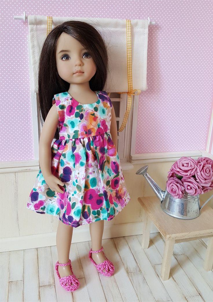 Paire de chaussures roses au crochet pour poupée Little Darling : Jeux, jouets par atelier-crochet
