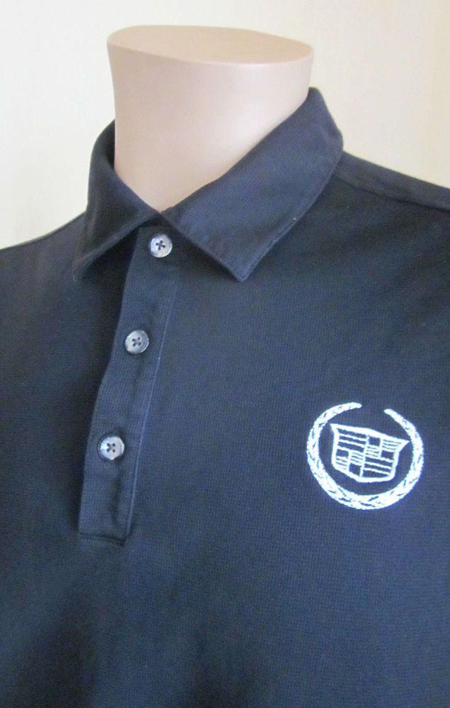 Nike Golf Men S Black Dri Fit Cadillac Logo Short Sleeve Polo Shirt