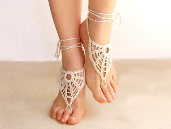 Crochet Barefoot Sandals: Nude Shoes, Foot Jewelry, Fashion, Barefoot Sandals, Ivory Barefoot, Wedding, Crochet Barefoot, Accessories, Feet Jewelry