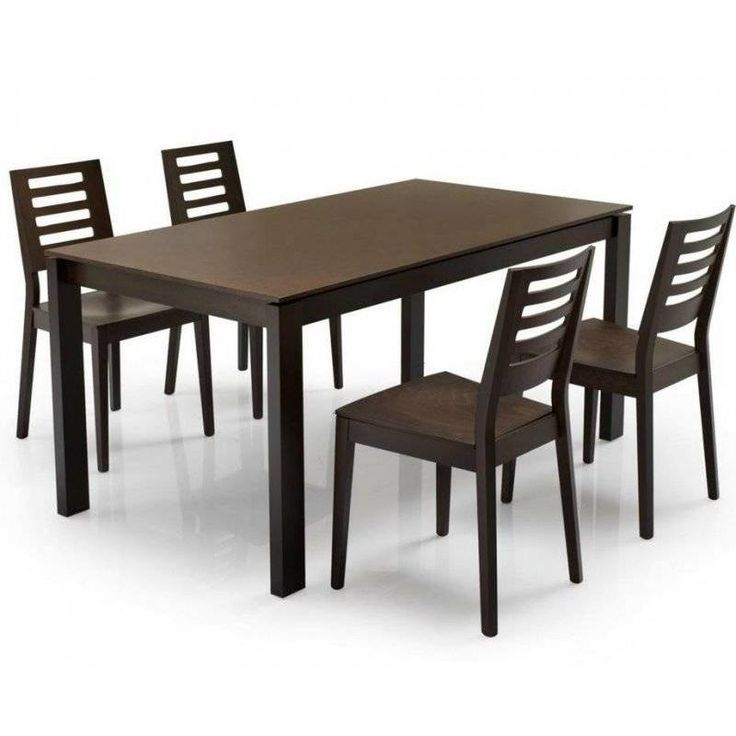 Tables design au meilleur prix, Table repas extensible EMIR 130x90 melamine gris pietement acier satine | Inside75