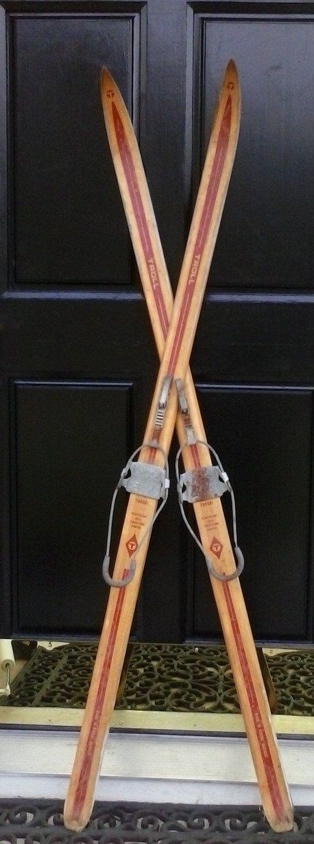 Vintage Antique Skis Wood Turski Troll Skiis by VintageEstateLore, $139.99 - for guest book