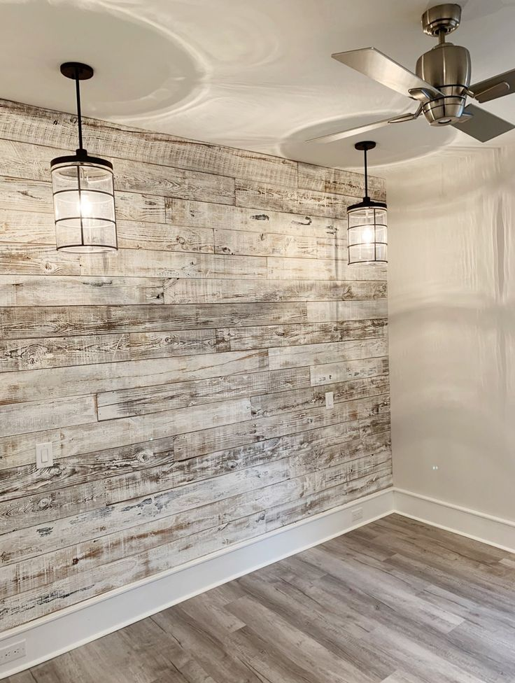 My latest reclaimed wood wall with a white-washed …