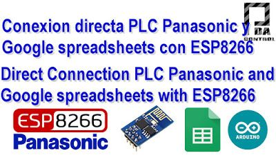 PLC Connection Fpx C14 Panasonic and Google spreadsheets (Google docs) with ESP8266 - PDAControl