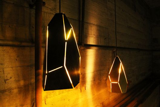 Laser cut and folded metal pendant light
