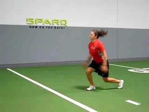 Lunge split jumps