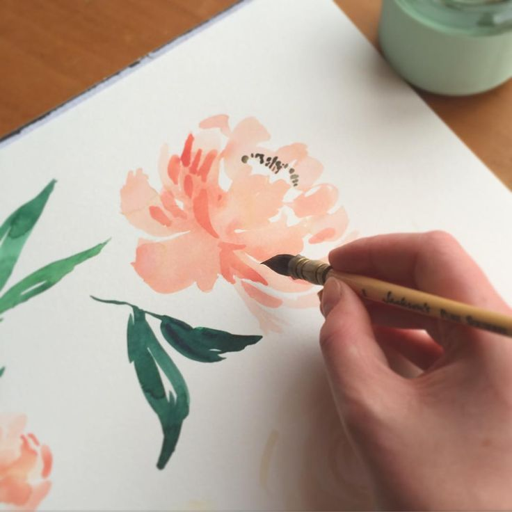Painting peonies. Happy Tuesday