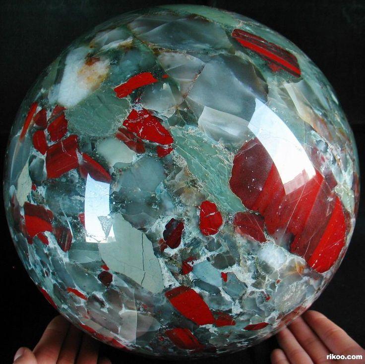 Giant African Bloodstone Sphere   spheres   Pinterest ...