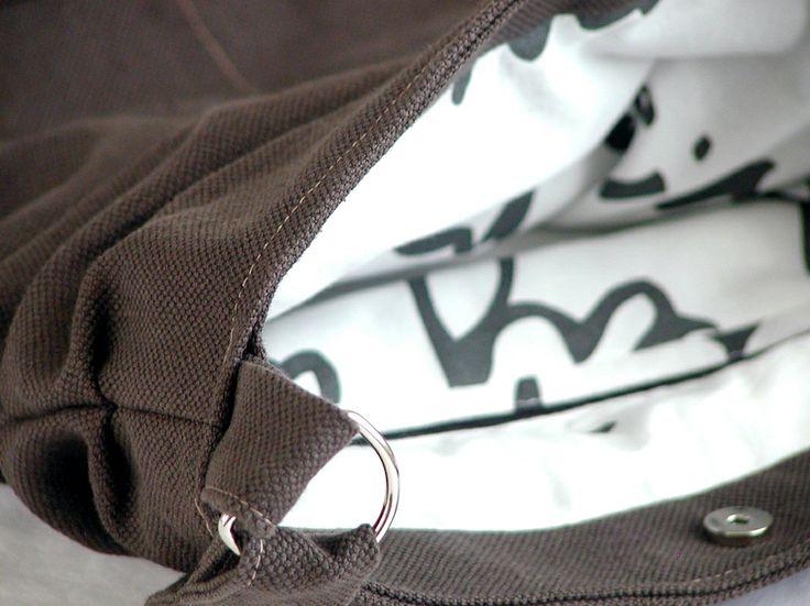 Heavy cotton bag - detail of magnetic closure chez.chizzi@gmail.com