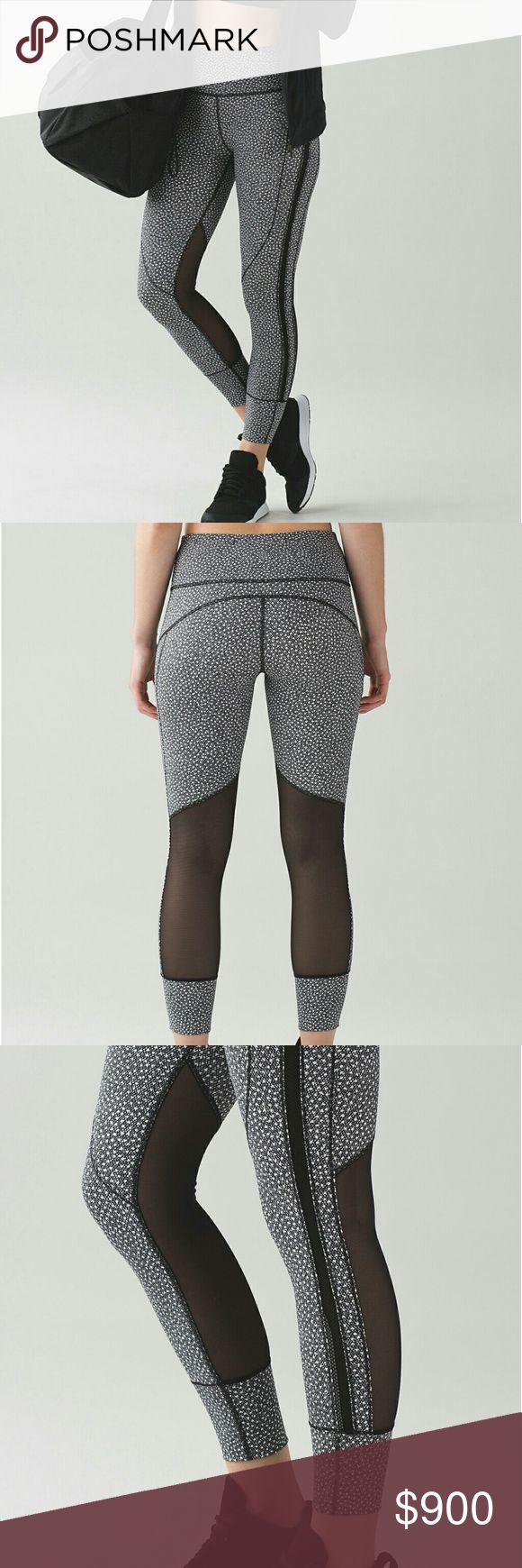 SALE NWT $59 Lululemon Hi Rise Fizz Tight 2,4,6,10 Online now at lululemon.com insider sale. $59,down from $118. Black white Frozen face pattern, Luxreme and mash, hi rise, 7/8.  IMO great deal for lulu addicts on a budget :) sizes 2,4,6& 10 avai.FINAL SALE no returns or exchanges lululemon athletica Pants