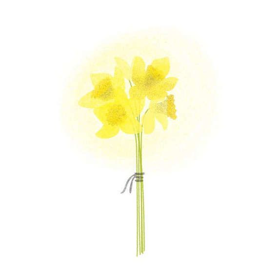 Carte postale Bouquet de jonquilles par LeNichoir sur Etsy