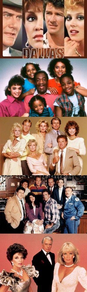 I cinque più seguiti telefilm americani degli anni '80