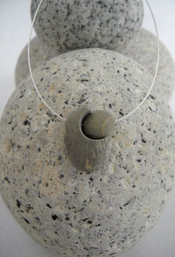 The Gift... Beach Stone Necklace by lisarossjewelry on Etsy