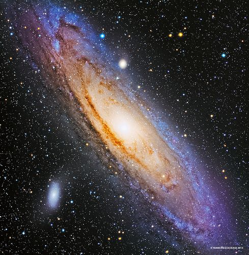M31 Andromeda Galaxy LRGB  To learn more about galaxies, check out #Astronomy Is Awesome - http://astronomyisawesome.com/galaxies/whats-the-closest-galaxy-to-us/