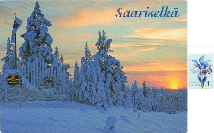 FIN-1693 - Arrived: 2017.01.19   ---   Saariselkä  is a village located in a mountainous area in northern Finland. It is a popular tourist destination, providing activities such as skiing, hiking and a spa. It is located in Northern Lapland and belongs to the Inari municipality.