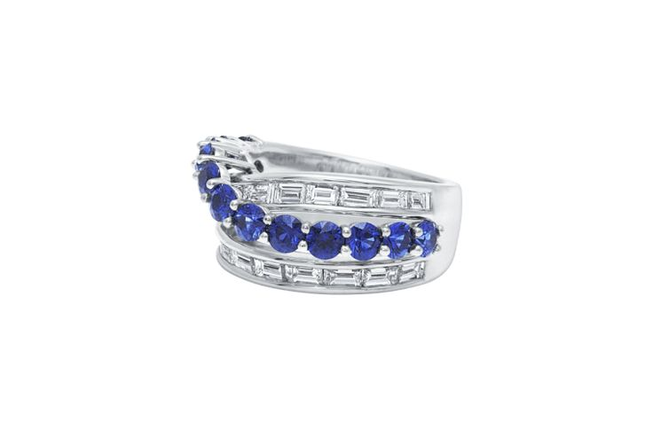 River by Harry Winston, Diamond and Sapphire Ring
