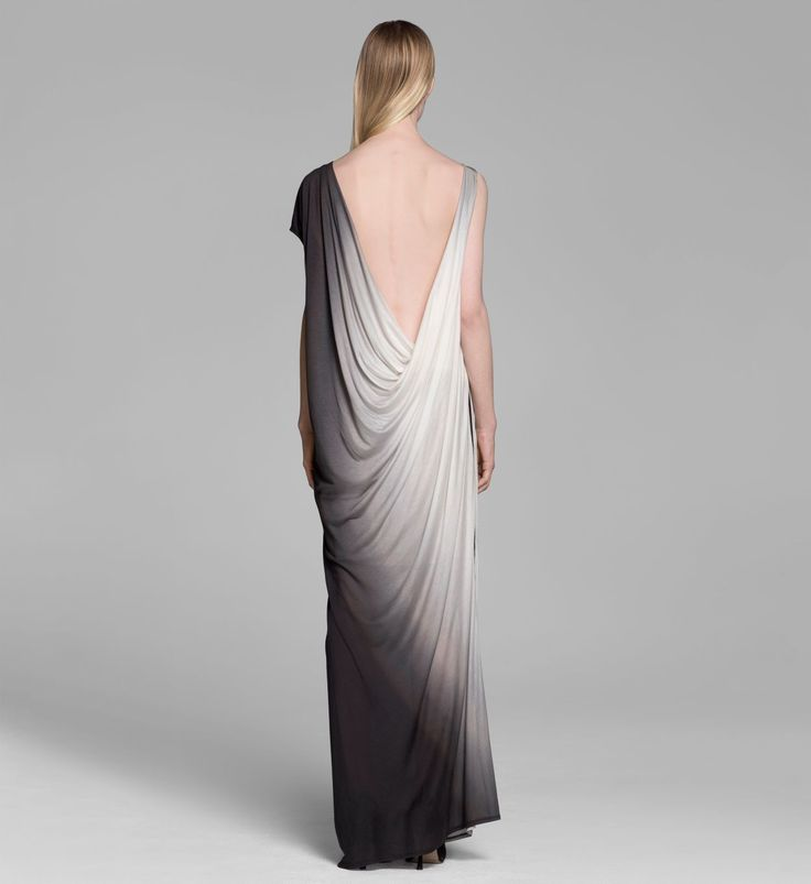 Helmut Lang Shadow Ombre Dress