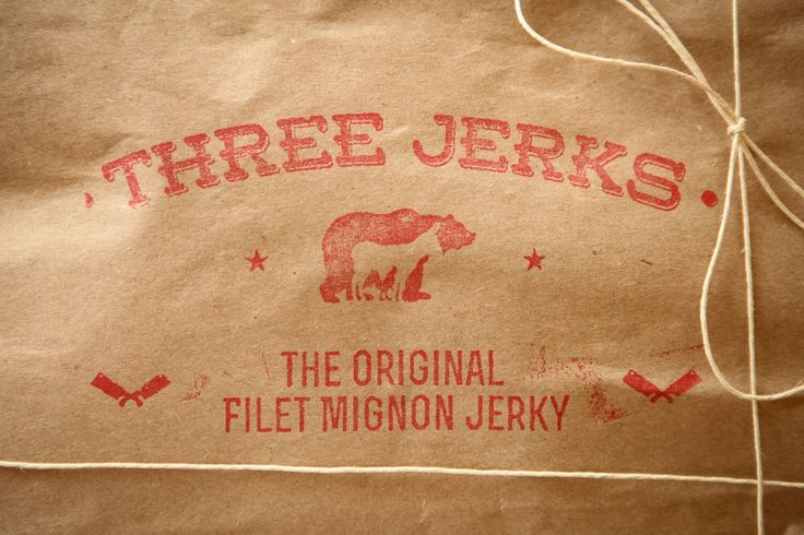 Three Jerks Jerky: The Original Filet Mignon Beef Jerky Logo Photo Credit: Hagop Kalaidjian