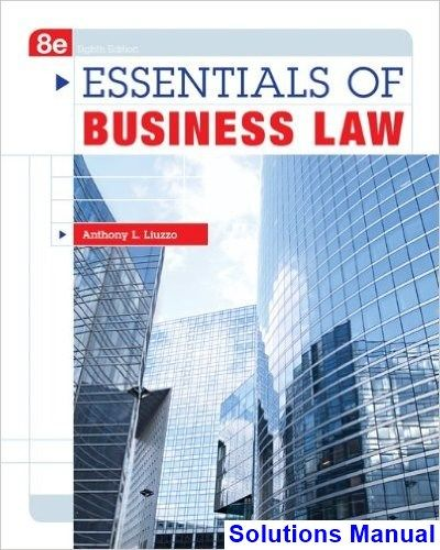 52 best solution manual download images by smtb 82 on pinterest essentials of business law 8th edition liuzzo solutions manual test bank solutions manual fandeluxe Image collections