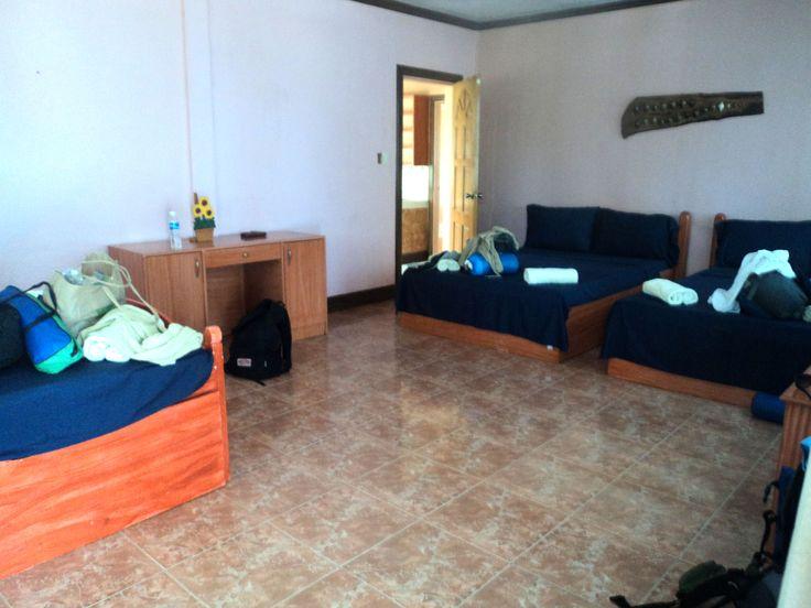 Our bedroom in Higatangan Island
