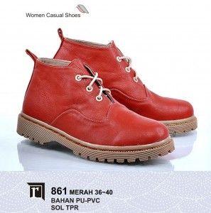 Jual Sepatu Boot Wanita Online Murah Keren Branded Warna Merah