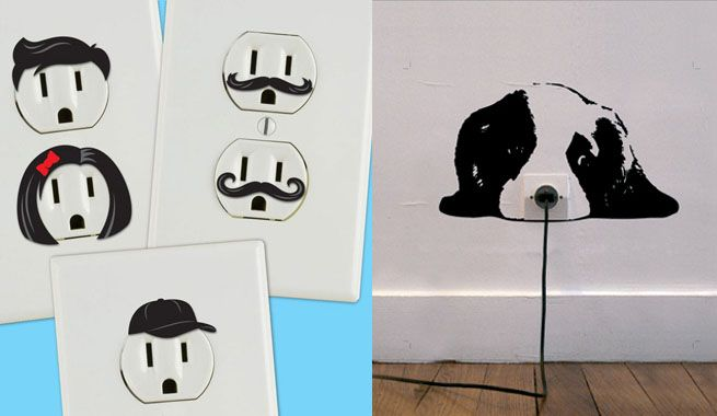 Ideas para decorar enchufes e interruptores. http://imaginashop.com/es/7-vinilos-decorativos