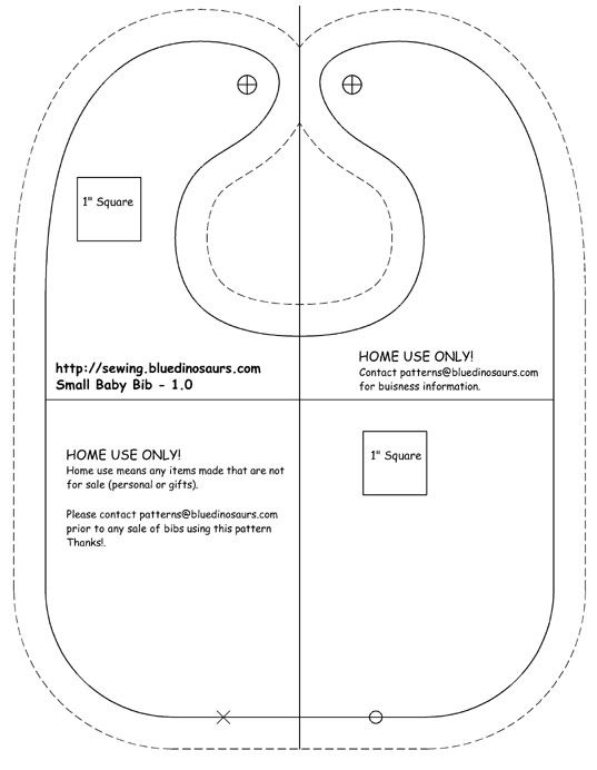 Free Printable Baby Bib Patterns   Adult bibs – Free sewing projects, free learn to sew articles
