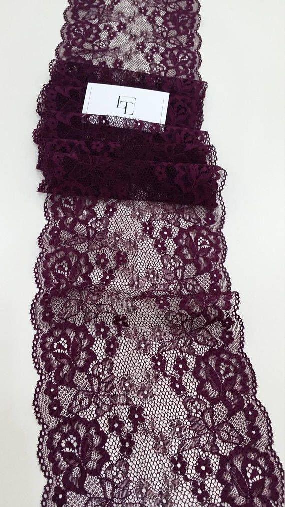 Violet stretch lace Trim Lingerie Elastic Lace French Lace