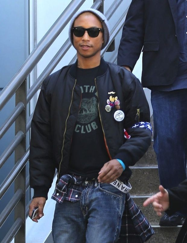 Pharrell Williams LAX Airport Style | UpscaleHype