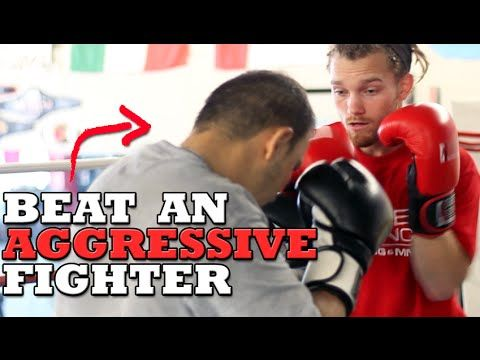 How to Beat an Aggressive Fighter - Dirty Boxing Technique - YouTube