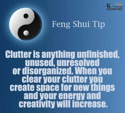 19 best decluttering organised quotes images on - Consejos feng shui ...