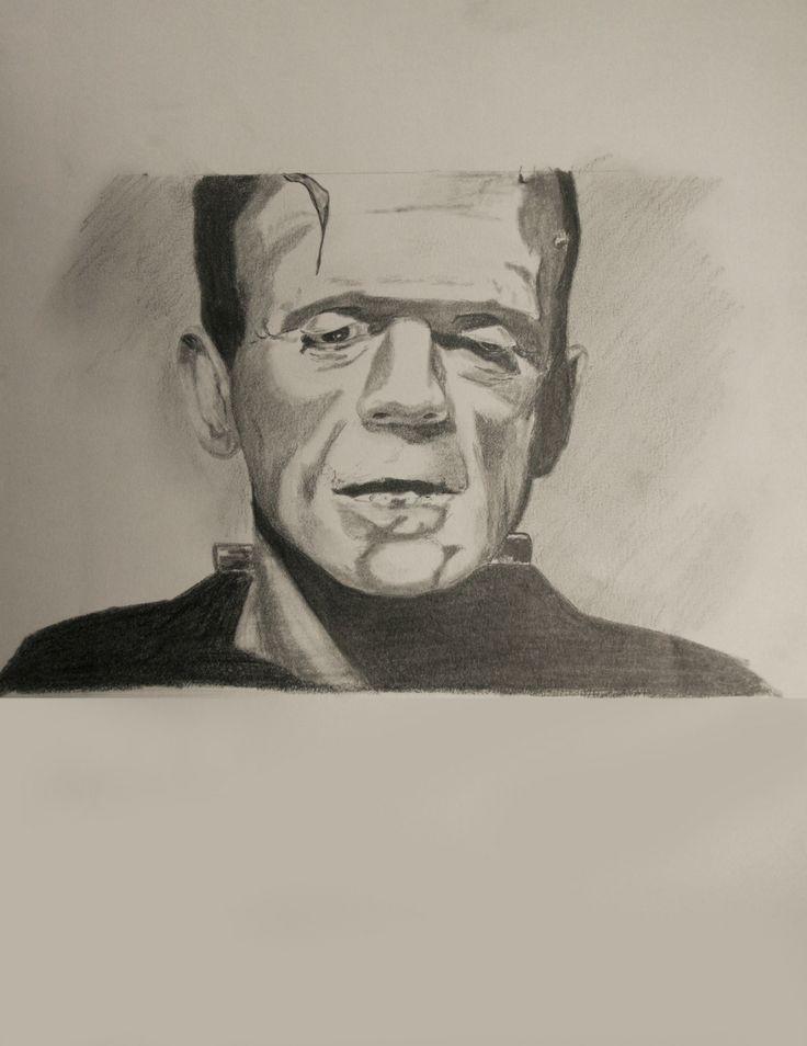 Boris Karloff as Frankenstein's Monster. Pencil On Paper 8.5 X 11
