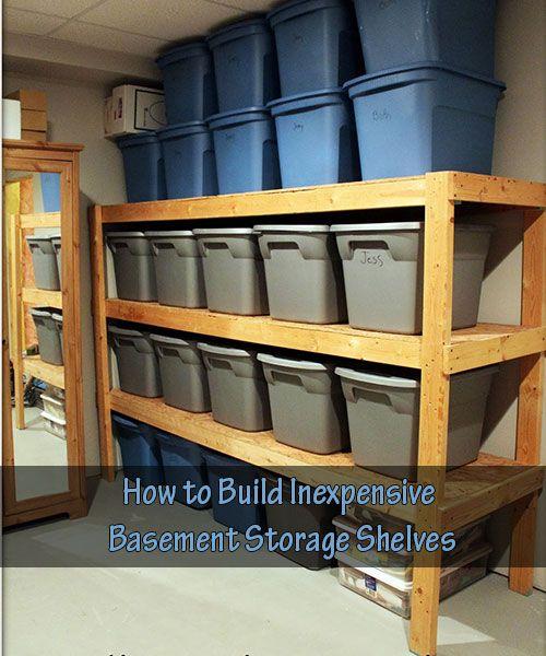 1000+ Ideas About Basement Storage Shelves On Pinterest