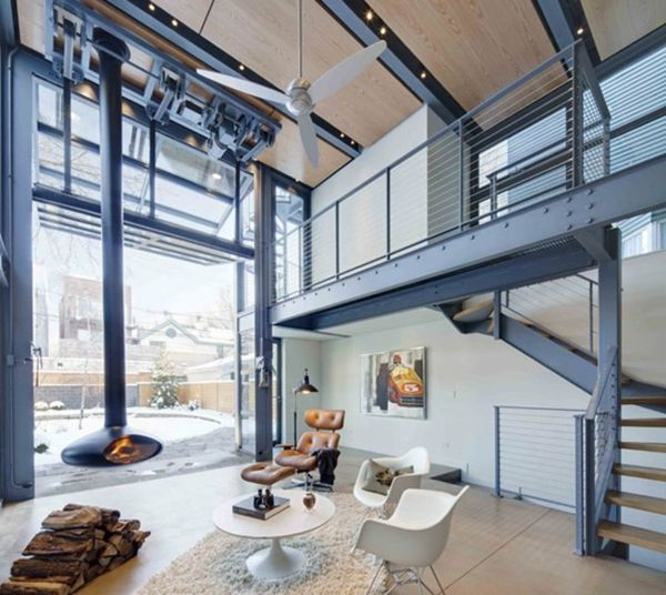 Interior Design Technology Remodelling: High-tech Industrial Loft