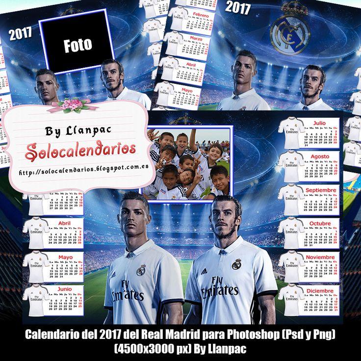 Calendarios para Photoshop: Calendario del 2017 del Real Madrid para Photoshop...