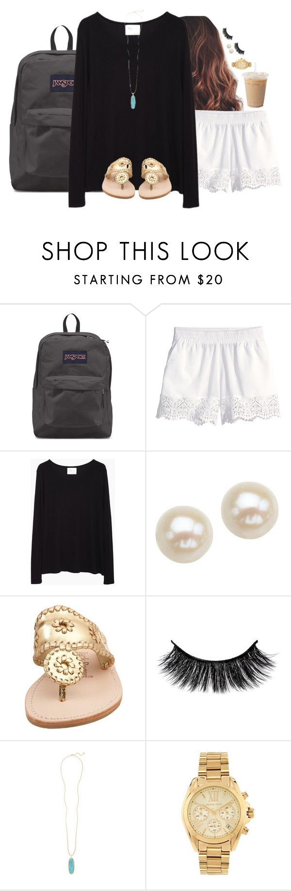 """My ootd for tomorrow, what is everyone else wearing?"" by aweaver-2 on Polyvore featuring JanSport, H&M, La Garçonne Moderne, Honora, Jack Rogers, Kendra Scott and Michael Kors"