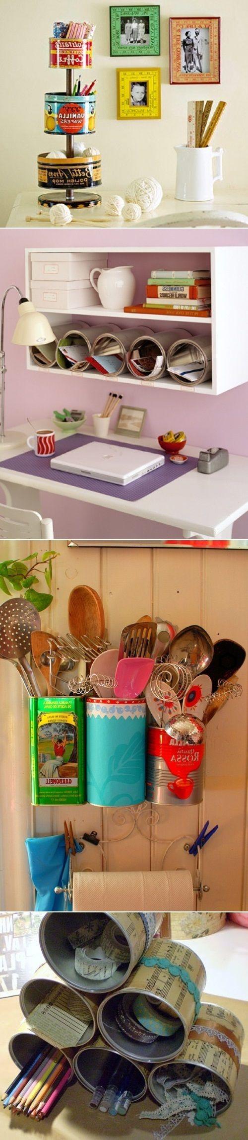 DIY Recycle Tin Cans riciclo creativo #bebvistamare